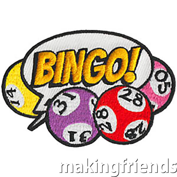 Bingo Patch -- Balloon. Have fun with your girls playing BINGO. You'll find fun free bingo themed printable cards on our page Fun and Games. BINGO for Books is another fun event your troop or service unit will enjoy. Have girls bring a few gently used books and play until everyone wins. Make it a part of your community service project by donating the left over books. The residents at your local senior center or nursing home would love for your troop to host a BINGO night for them too. via @gsleader411