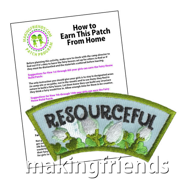 Resourceful: Character Building Patch Program® from MakingFriends®.com. Designed for any troop interested in reviewing the law. Our suggested requirements include opportunities for scouts of every level to put the law into practice with activities tailored for their age. #makingfriends #patchprogram #scoutpatches #girlscouts #scouts #juliettescouts #girlscoutlaw via @gsleader411