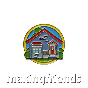 """The Shelter Delegate Pin is from the Youth Squad Outreach Patch Program®. MakingFriends®.com partnered with Youth Squad to bring you a rewarding community service program with step-by-step instructions for every age level to make a meaningful impact in their community. This is one of our """"Delegate"""" level pins. The requirements for our Delegate level provide teens with valuable life experience and a completed project to include on a resume or college application. via @gsleader411"""