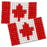 Diamond Painting Canada flag pin Girl Scout SWAP