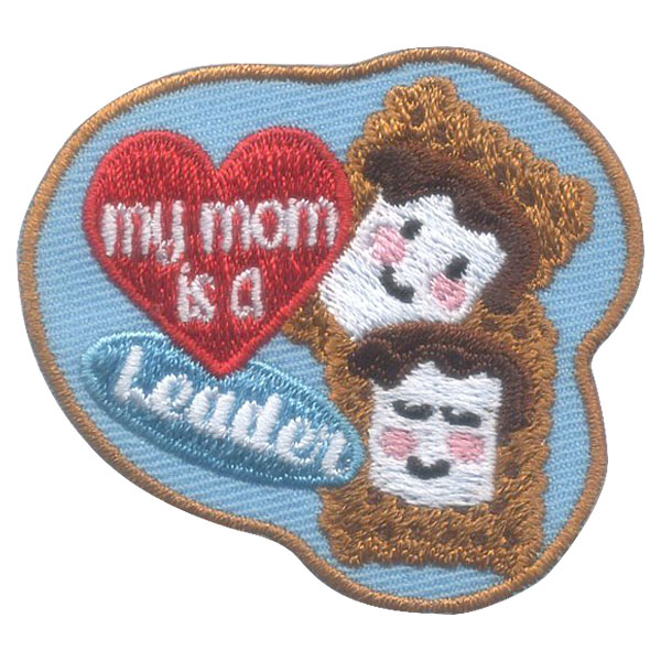 Girl Scout My Mom Is a Leader Fun Patch