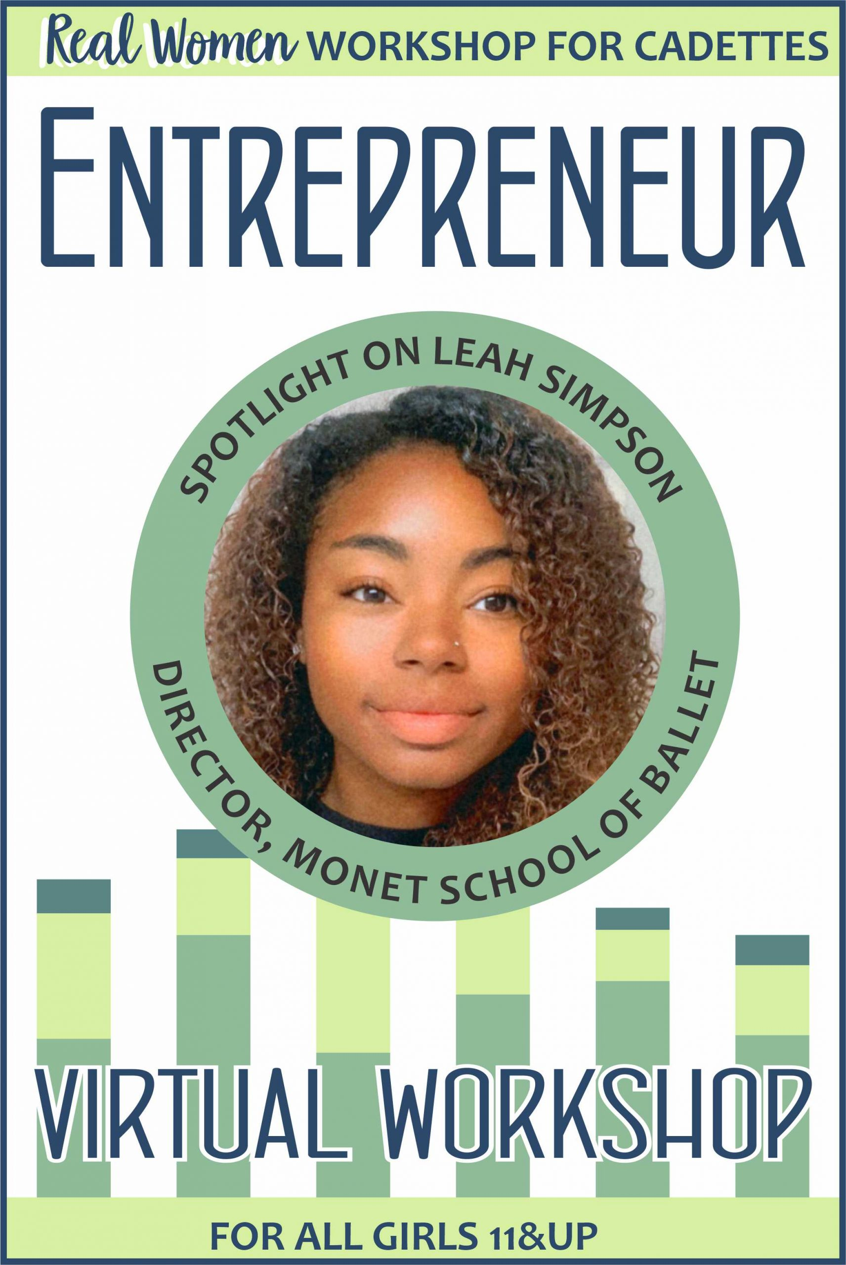 Learn about being an entrepreneur and how Leah Simpson founded the Monet School of Ballet! #makingfriends #entrepreneur #business #girlscoutcadettes #cadettes #girlscouts #monetschoolofballet #professional via @gsleader411