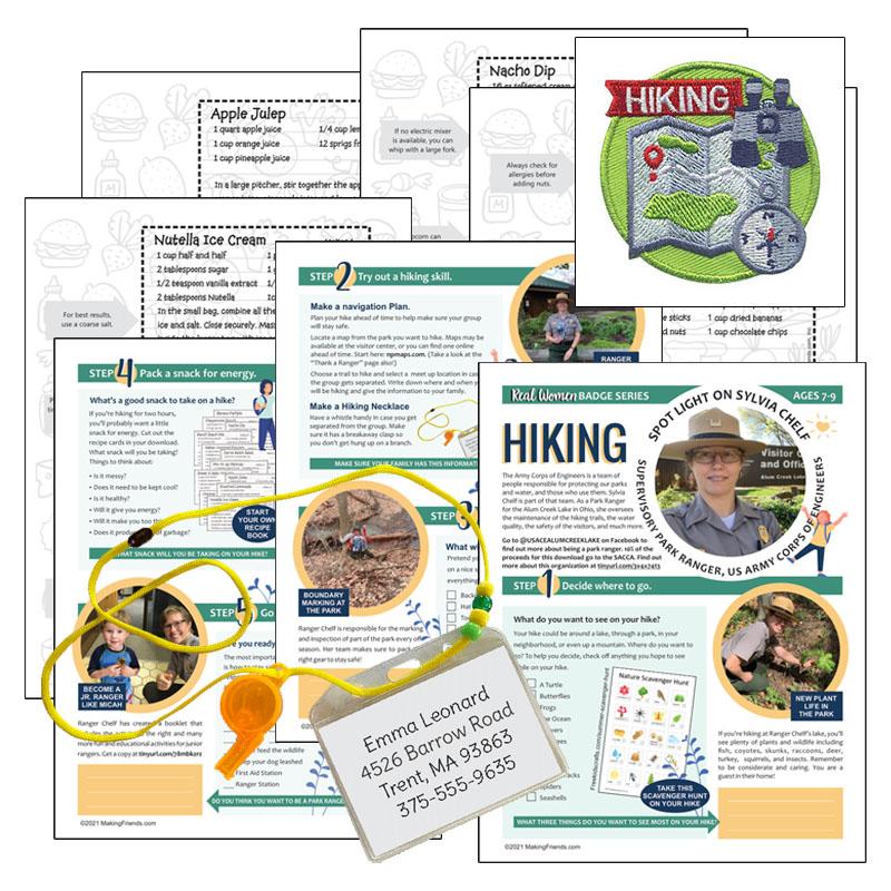 Girl Scout Real Women Hiking Virtual Workshop Kit