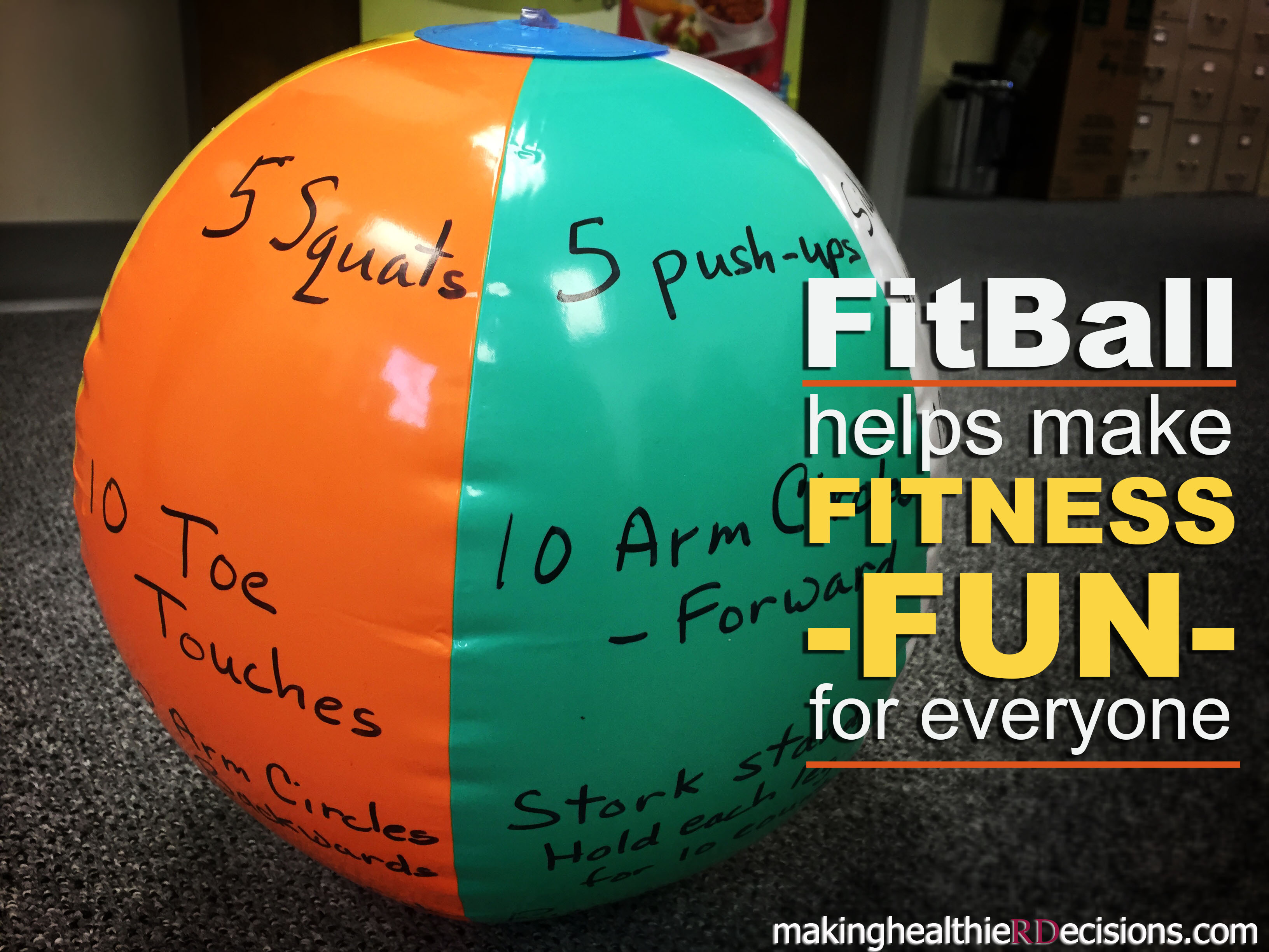 Diy Fitball A Fun Fitness Activity