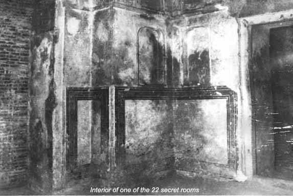 Interior of one of the 22 secret rooms