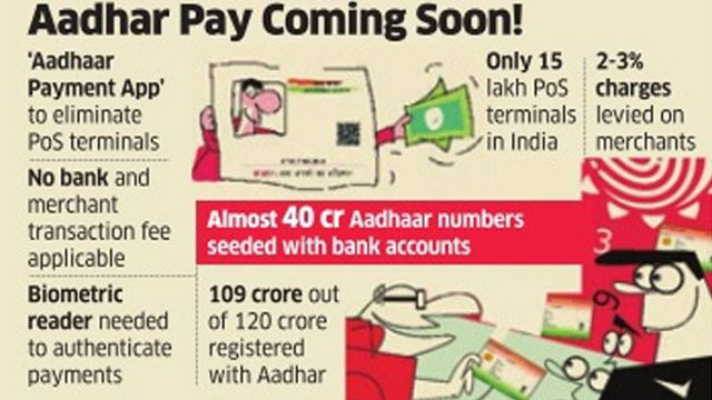 Adhar Payment App cashless india demonetization making india aadhar card payment