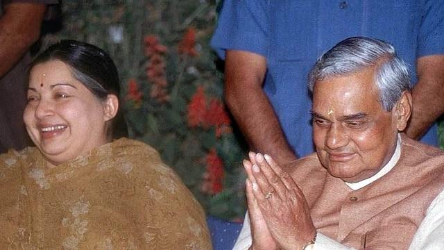 Atal Bihari Vajpayee with J Jayalalitha,