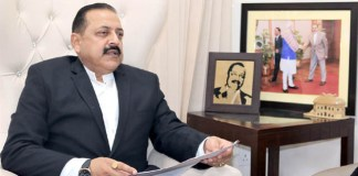 Minister of State for Development of North Eastern Region (I/C), Prime Minister's Office, Personnel, Public Grievances & Pensions, Atomic Energy and Space, Dr. Jitendra Singh