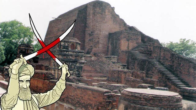 nalanda-university-destruction-by-alauddin-khilji-making-india