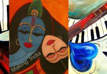 radha krishna music love nisha tripathi painter making india