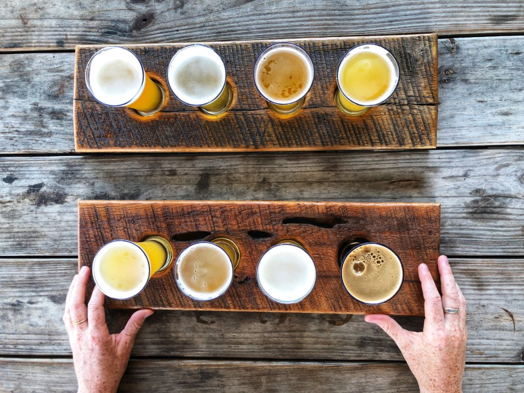 Beer flight at Zillicoah brewery