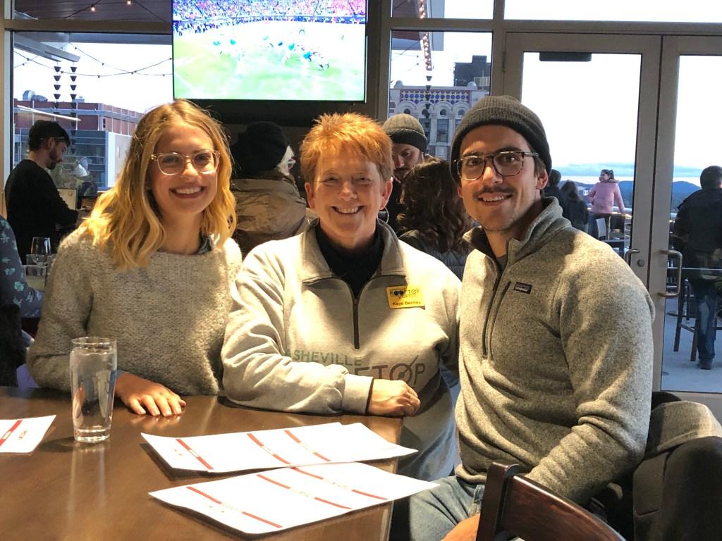 Asheville Rooftop Bar Tours - Sarah Ubertaccio, Kaye Bentley, and Tony Ubertaccio at Hemingway's