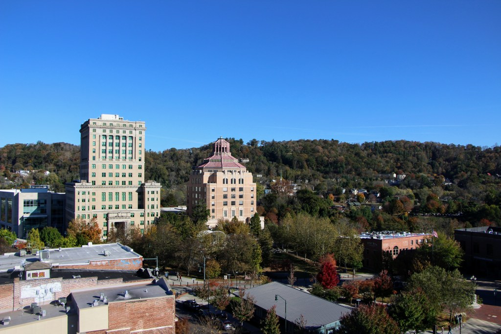 Rooftop view of Asheville at AC Hotel
