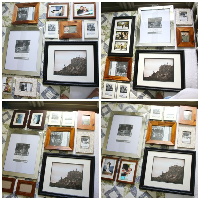 Different Gallery Wall Layouts @ making it in the mountains