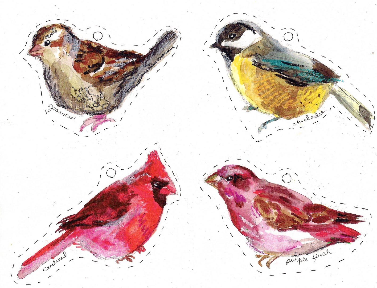 Winter Birds Free Printables