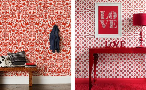 Red Wallpaper Rooms
