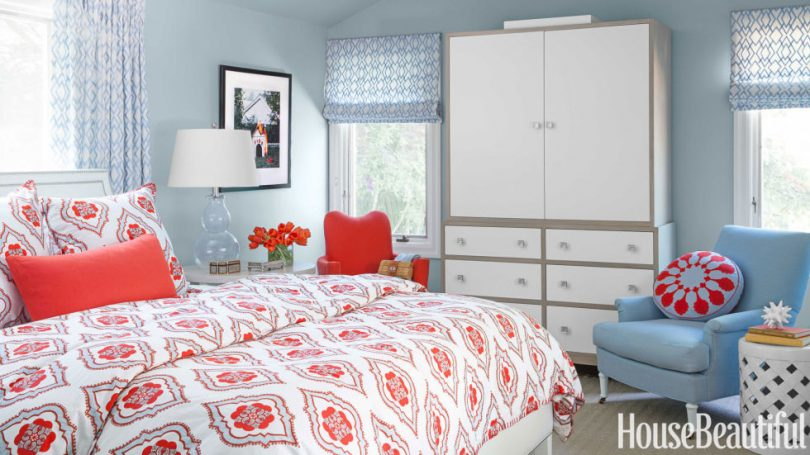 Red And Light Blue Bedrooms Making It Lovely
