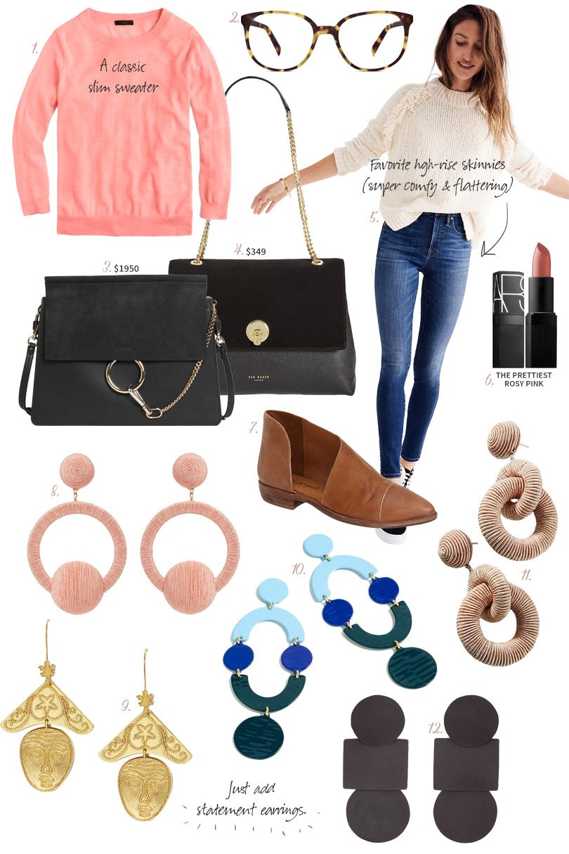 Jeans and a Sweater - Just add Statement Earrings