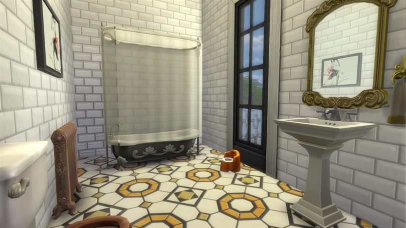 Victorian Bathroom — Sims 4 Pink Victorian House, Making it Lovely