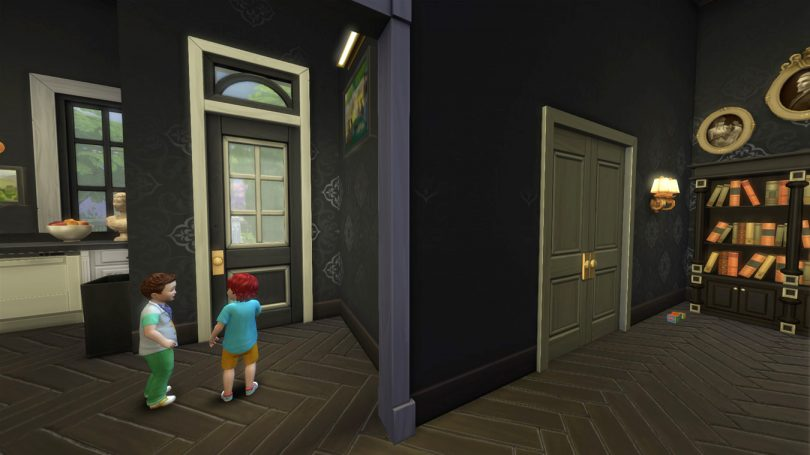 1st Floor Hallway — Sims 4 Pink Victorian House, Making it Lovely