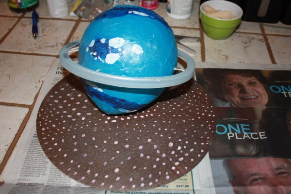 Neptune science project Paper mache Making it naturally