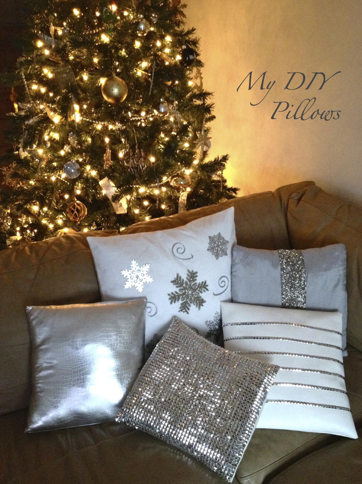 Embellished Designer Christmas Pillows