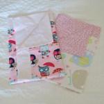 Self Binding Receiving Blankets