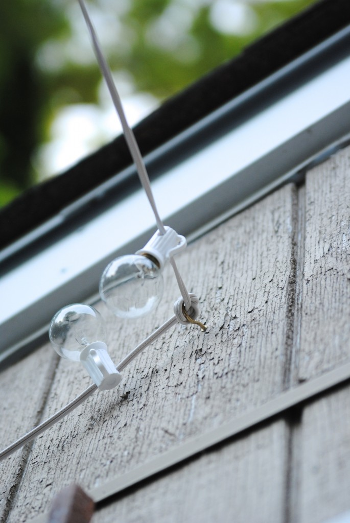 How to Hang Outdoor String Lights (The Deck Diaries, Part ... on Backyard String Lights Diy id=23149