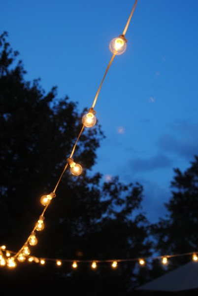 outdoor patio lighting string lights How to Hang Outdoor String Lights (The Deck Diaries, Part