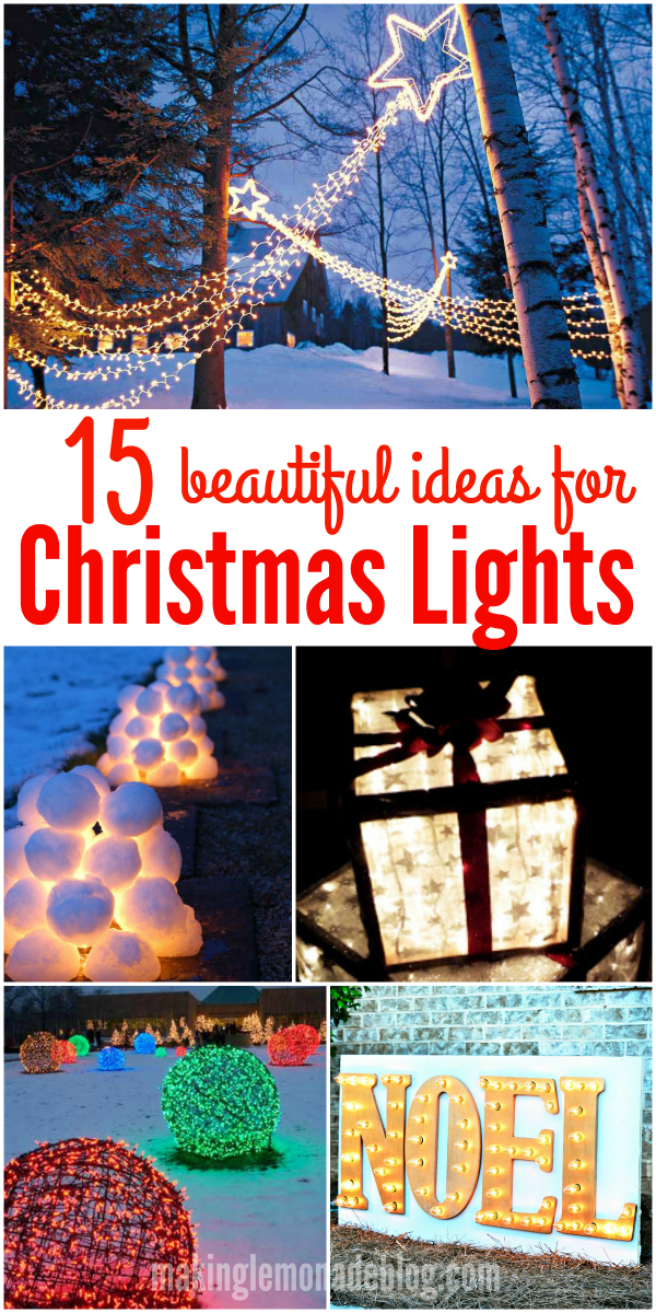 15 Beautiful Christmas Outdoor Lighting DIY Ideas | Making ... on Patio Decorating Ideas With Lights  id=78306