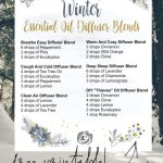 Best Winter Essential Oil Diffuser Recipes With Free Printable Making Lemonade