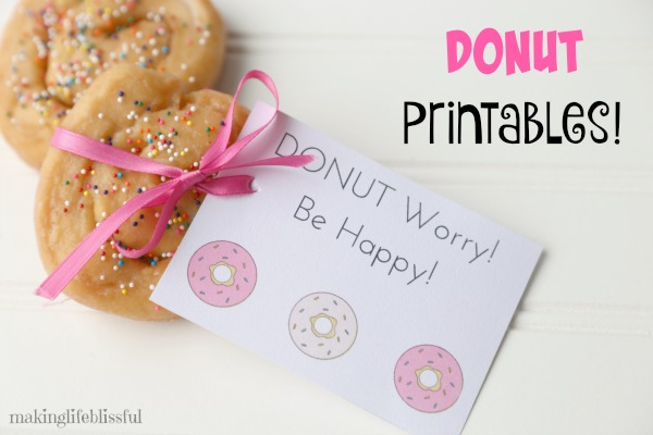 Free Donut Party Printables