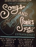 Autographed concert poster