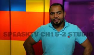 Actor Ramsey Nouah in the SpeaksTV studio.