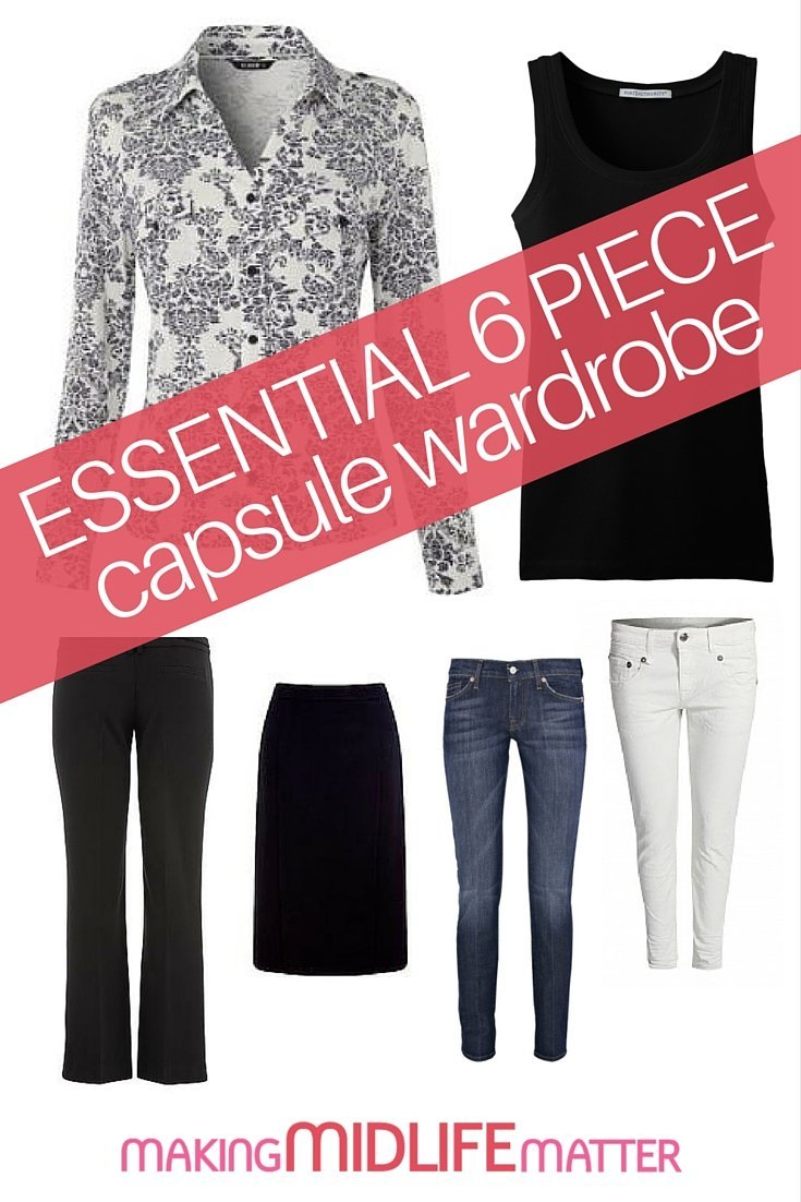 The capsule wardrobe operates on the idea that you can create an endless array of looks from a collection of foundation pieces. Start with these 6 pieces to build your wardrobe of versatile essentials.
