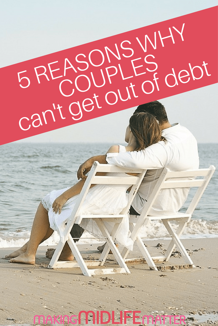 Here are money mistakes and reasons why couples can't seem to get out of debt and tips how to successfully merge financially moving forward.