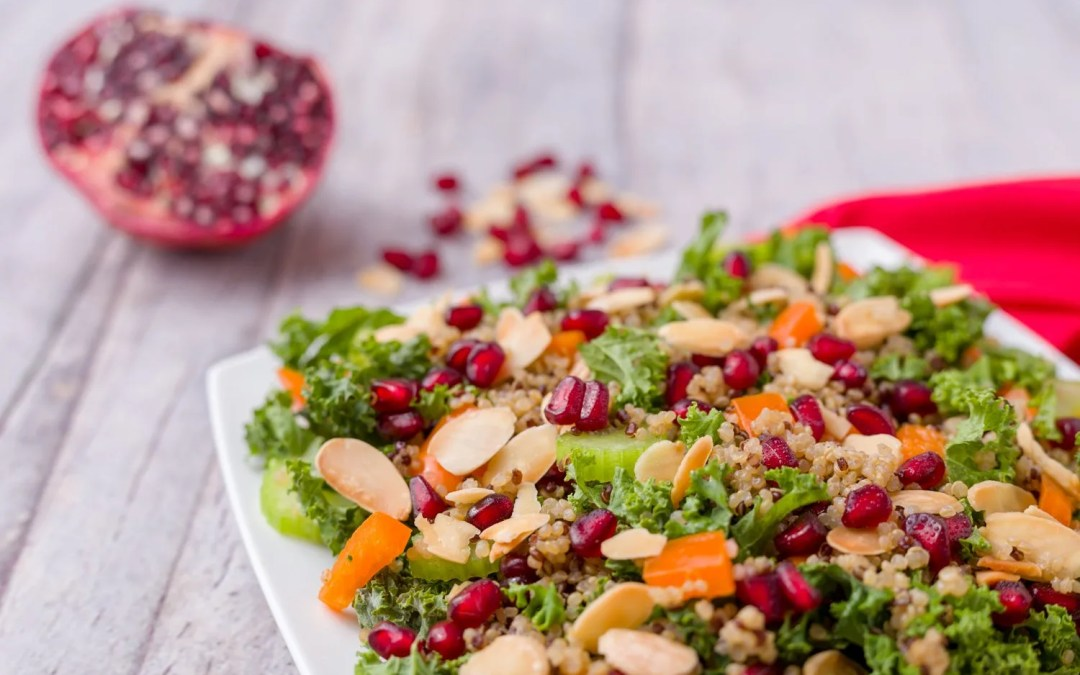 Kale Quinoa Pomegranate Salad