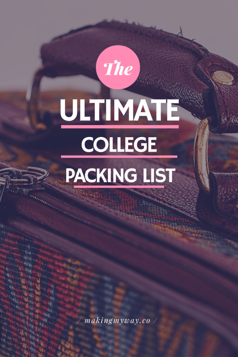 College Packing List