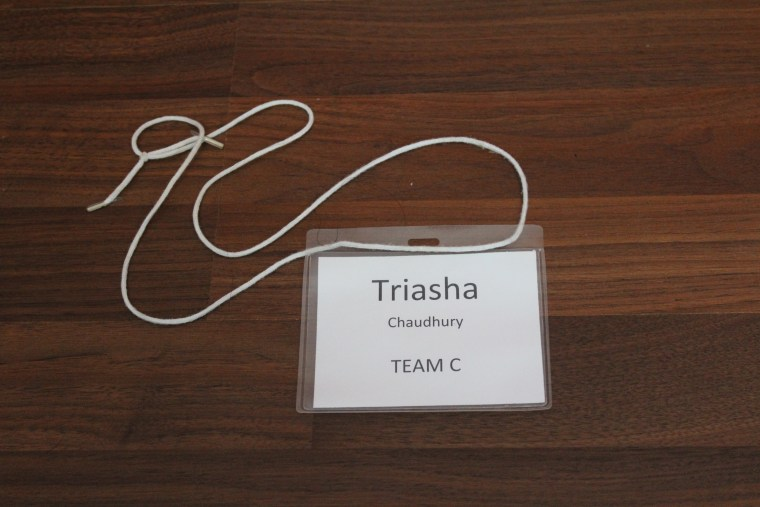 My name tag from STEM Camp four years ago. I found it in my desk a few months ago. A perk of living in the same house your whole life is that you manage to find stuff.