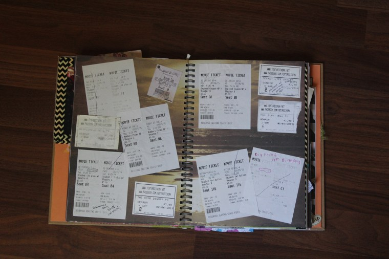 How I've organized special movie ticket stubs