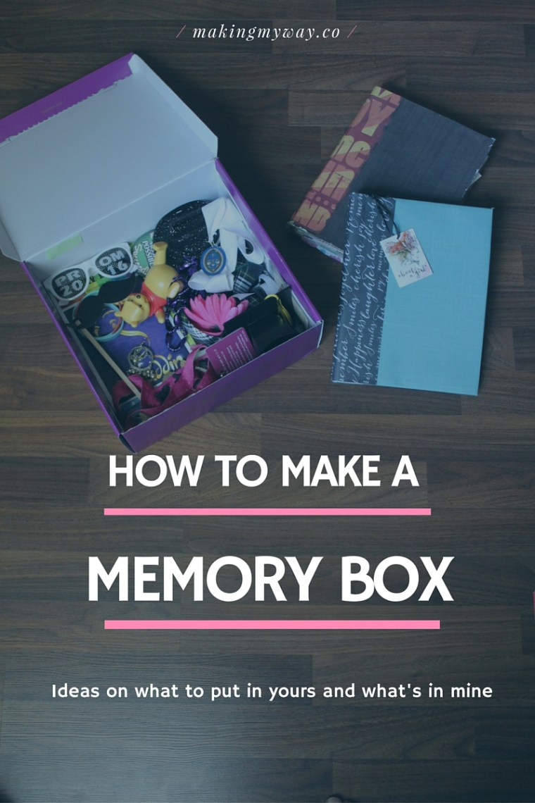 How to make a memory box. Why you should make one, what's in mine, and ideas on what to put in yours. Having keepsakes in one place keeps you organized and bring you happy memories