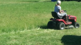 me on the new lawnmower