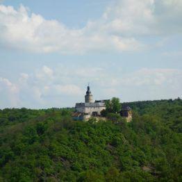 """Stempelstelle """"Selkesicht"""" mit Blick auf die Konradsburg"""