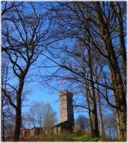 Endlich oben: Der Bismarckturm oberhalb von Bad Lauterberg. Anstrengender Aufstieg!
