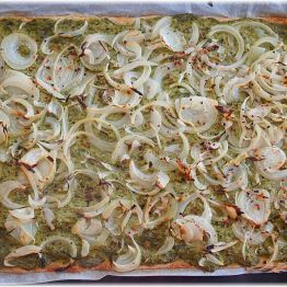 Bärlauch-Flammkuchen ist fertig!