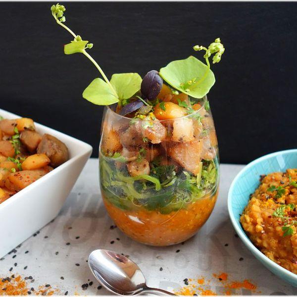 Linsen mit Gemüsen und Ras-El-Hanout