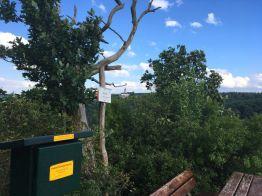 Blick auf die Konradsburg von der Selkesicht, Stempelstelle 204