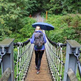 Der Regenschirm wurde zum Markenzeichen dieses Urlaubes!