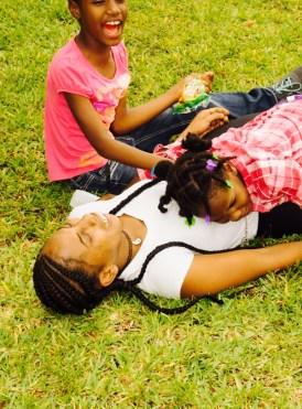 The kids loves Our Volunteer Kiara.