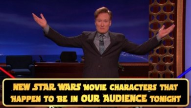 """Photo of New """"Star Wars"""" Characters just HAPPEN to be sitting in Conan's audience"""
